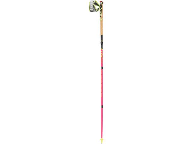 LEKI Micro Trail Pro Bastones Trail Running plegable, neon pink/grey/neon yellow